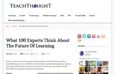 http://www.teachthought.com/trends/what-100-experts-think-about-the-future-of-learning/