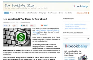 http://blog.bookbaby.com/2012/09/how-much-should-you-charge-for-your-ebook/