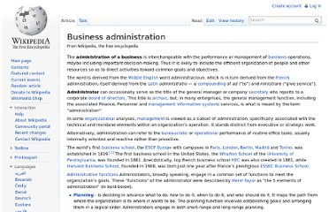 http://en.wikipedia.org/wiki/Business_administration