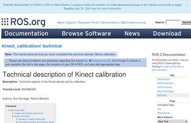 http://www.ros.org/wiki/kinect_calibration/technical