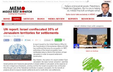 http://www.middleeastmonitor.com/news/middle-east/2332-un-report-israel-confiscated-35-of-jerusalem-territories-for-settlements