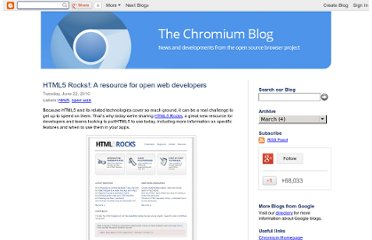 http://blog.chromium.org/2010/06/html5-rocks-resource-for-open-web.html