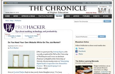 http://chronicle.com/blogs/profhacker/do-you-need-your-own-website-while-on-the-job-market/35825