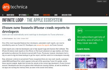 http://arstechnica.com/apple/2009/05/itunes-now-funnels-iphone-crash-reports-to-developers/