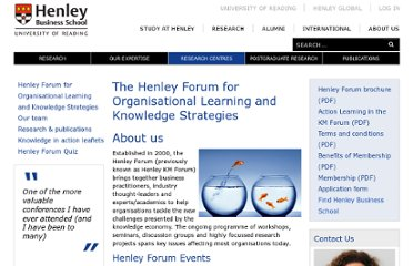 http://www.henley.ac.uk/kmforum/