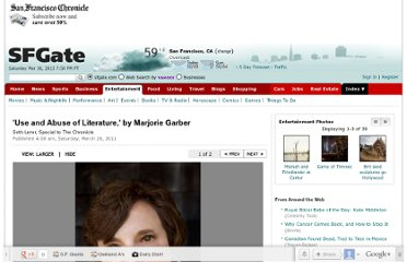 http://www.sfgate.com/books/article/Use-and-Abuse-of-Literature-by-Marjorie-Garber-2388142.php