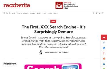 XXX Search Engine - It's Surprisingly Demure