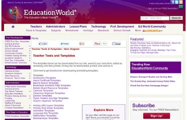 http://www.educationworld.com/tools_templates/index.shtml#backToSchool