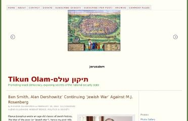 http://www.richardsilverstein.com/2012/02/29/ben-smith-alan-dershowitz-continuing-jewish-war-against-m-j-rosenberg/