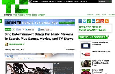 http://techcrunch.com/2010/06/22/bing-entertainment-music-streams/