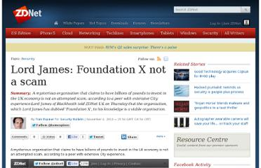 http://www.zdnet.com/lord-james-foundation-x-not-a-scam-4010020958/