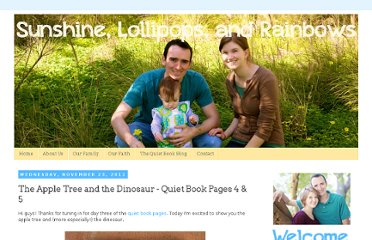 http://jocelynandjason.blogspot.com/2011/11/apple-tree-and-dinosaur-quiet-book.html