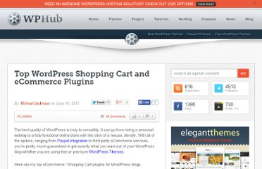 http://www.wphub.com/shopping-cart-ecommerce-plugins/