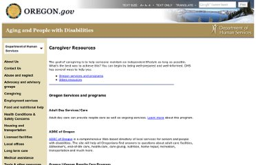 http://www.oregon.gov/DHS/spwpd/Pages/caregiving/resources.aspx