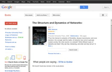 http://books.google.com.au/books/about/The_Structure_and_Dynamics_of_Networks.html?id=6LvQIIP0TQ8C#v=onepage&q&f=false