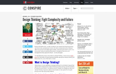 http://blog.mindjet.com/2011/12/design-thinking-fight-complexity-and-failure/