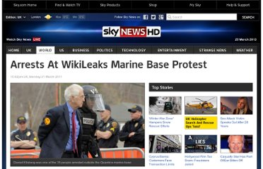 http://news.sky.com/story/843636/arrests-at-wikileaks-marine-base-protest