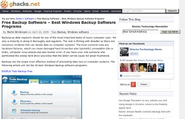 http://www.ghacks.net/2009/04/26/the-10-best-windows-backup-software-programs/