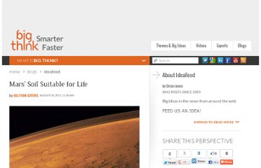 http://bigthink.com/ideafeed/mars-soil-suitable-for-life