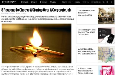 http://www.fastcompany.com/1824235/8-reasons-choose-startup-over-corporate-job