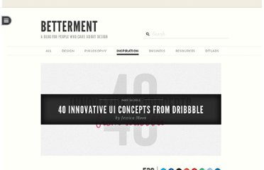 http://www.dtelepathy.com/blog/inspiration/40-innovative-ui-concepts-dribbble