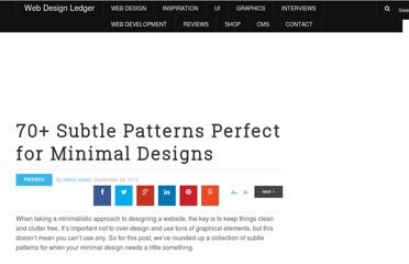 http://webdesignledger.com/freebies/70-subtle-patterns-perfect-for-minimal-designs