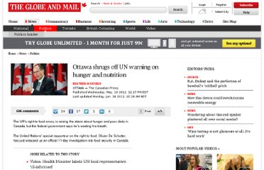 http://www.theglobeandmail.com/news/politics/ottawa-shrugs-off-un-warning-on-hunger-and-nutrition/article4184575/