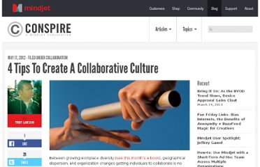 http://blog.mindjet.com/2012/05/4-tips-to-create-a-collaborative-culture/