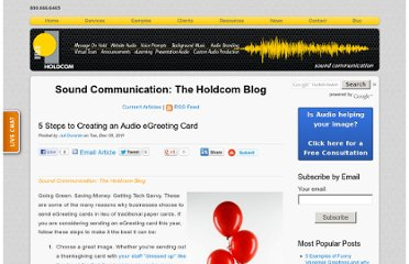 http://soundcommunication.holdcom.com/bid/78727/5-Steps-to-Creating-an-Audio-eGreeting-Card