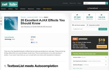 http://net.tutsplus.com/tutorials/javascript-ajax/20-excellent-ajax-effects-you-should-know/