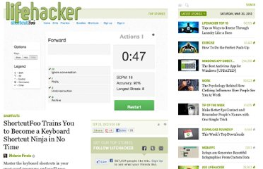 http://lifehacker.com/5947286/shortcutfoo-trains-you-to-become-a-keyboard-shortcut-ninja