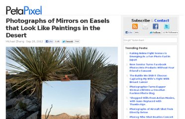 http://www.petapixel.com/2012/09/28/photographs-of-mirrors-on-easels-that-look-like-paintings-in-the-desert/