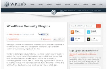 http://www.wphub.com/wordpress-security-plugins/