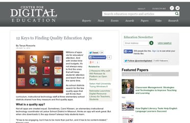 http://www.centerdigitaled.com/classtech/12-Keys-Education-Apps.html