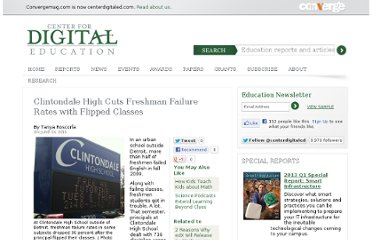 http://www.centerdigitaled.com/classtech/Clintondale-High-Flipped-Classes.html