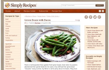 http://www.simplyrecipes.com/recipes/green_beans_with_bacon/