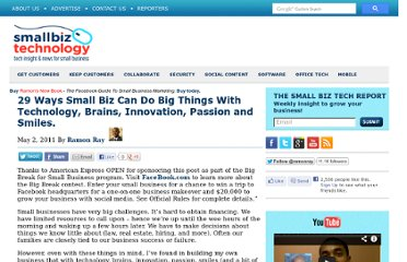 http://www.smallbiztechnology.com/archive/2011/05/29-ways-small-biz-can-do-big-things-with-technology-brains-innovation-passion-and-smiles.html/