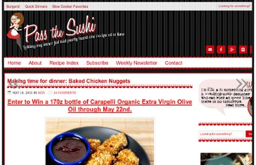 http://passthesushi.com/making-time-for-dinner-baked-chicken-nuggets/