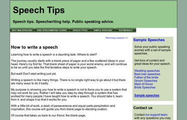 http://www.speechtips.com/how-to-write-a-speech.html