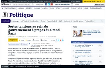 http://www.lemonde.fr/politique/article/2009/09/30/fortes-tensions-au-sein-du-gouvernement-a-propos-du-grand-paris_1247434_823448.html