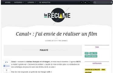 http://lareclame.fr/canal+film+independant