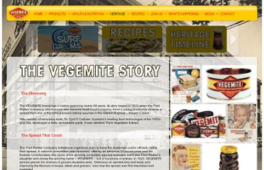 http://www.vegemite.com.au/Pages/the-vegemite-story.aspx
