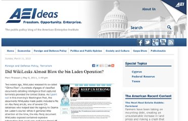 http://www.aei-ideas.org/2011/05/did-wikileaks-almost-blow-the-bin-laden-operation/