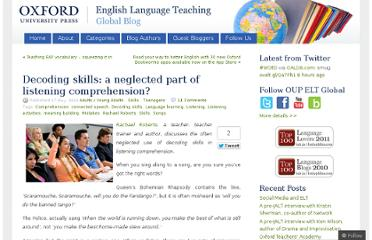 http://oupeltglobalblog.com/2012/05/17/decoding-skills-a-neglected-part-of-listening-comprehension/