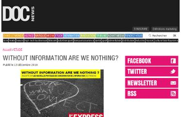 http://www.docnews.fr/actualites/etude,without-information-are-nothing,32,7198.html