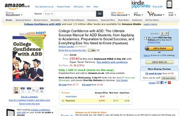 http://www.amazon.co.uk/College-Confidence-ADD-Preparation-Everything/dp/1402212518