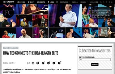 http://www.fastcompany.com/1677383/how-ted-connects-idea-hungry-elite