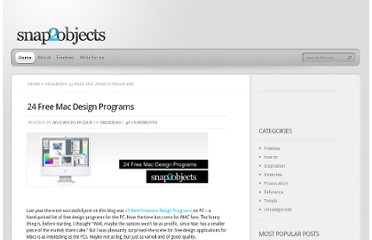 http://www.snap2objects.com/2008/06/24-free-mac-design-programs/
