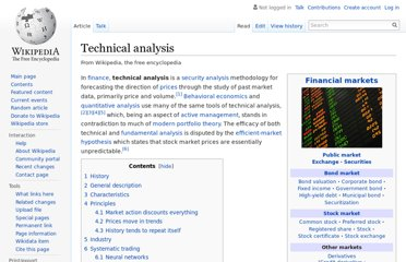http://en.wikipedia.org/wiki/Technical_analysis