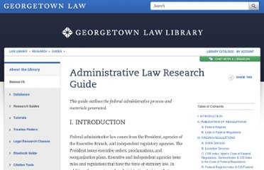 http://www.law.georgetown.edu/library/research/guides/adminlaw.cfm